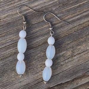 Sterling opalite earrings